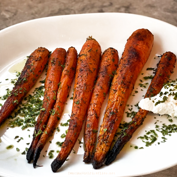 Served with charred carrots